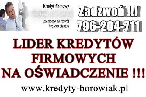 Lider Kredytów Firmowych Na Oświadczenie !!! Cała Polska!