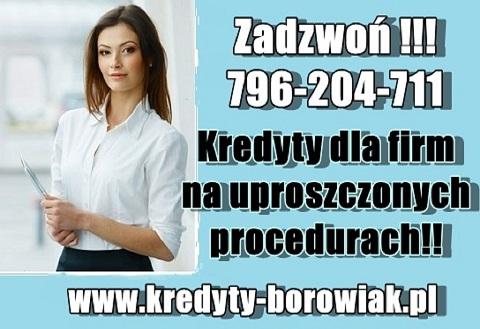 Kredyty Dla Firm: Na Stracie/bez Dochodu/bez Zdolności! Cała Polska