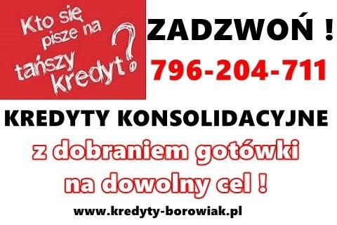 Nowość!! Kredyty Gotówkowe/konsolidacyjne – Jedna Niska Rata,zamiast Kilku! Cała Polska!