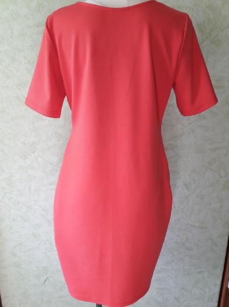 Różowa Sukienka Rozmiar L 4