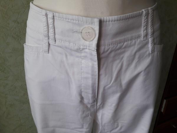 Białe Bawełniane Spodnie Rozmiar 42 3