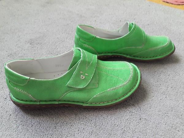 Półbuty Zielone Rozmiar 38