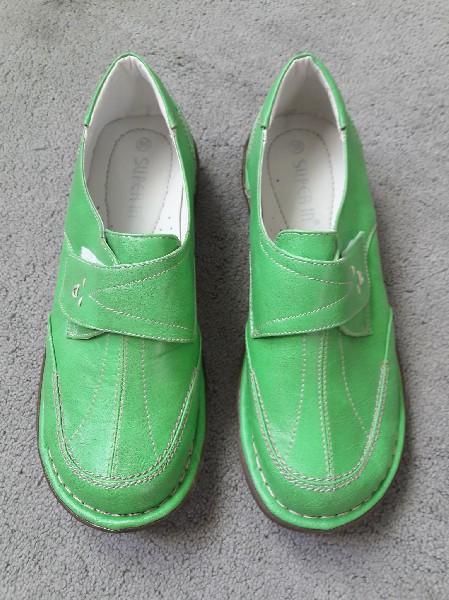 Półbuty Zielone Rozmiar 38 2