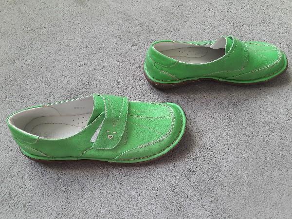 Półbuty Zielone Rozmiar 38 3