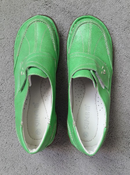 Półbuty Zielone Rozmiar 38 4
