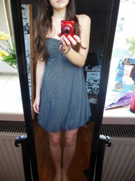 Niebieska Sukienka Rozmiar S/m - Cena 12zł 4