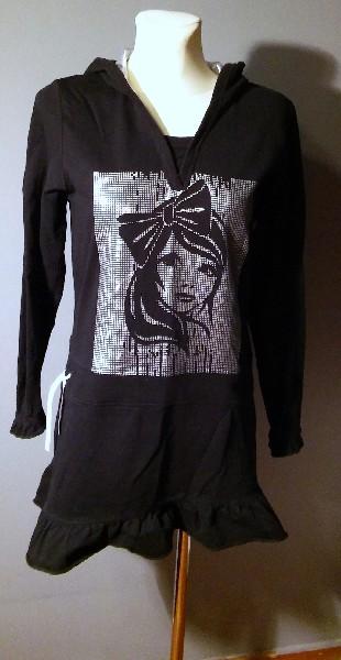 Czarna Sukienka Mini - Rozmiar S/m