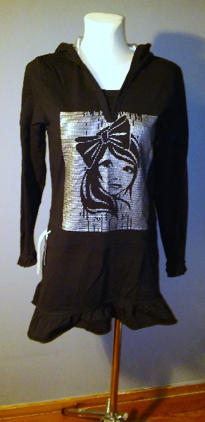 Czarna Sukienka Mini - Rozmiar S/m 3