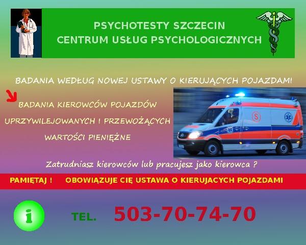 Psychotesty Szczecin. Centrum Usług Psychologicznych Wojska Polskiego 11 2