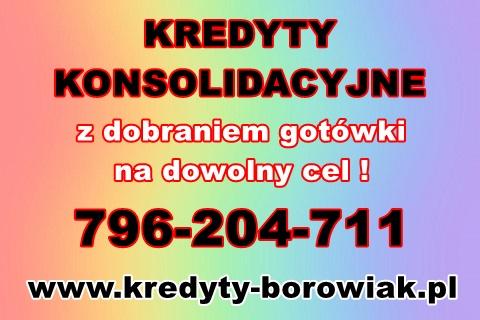 Kredyty Konsolidacyjne/gotówkowe! Obniżenie Rat,spłata Chwilówek!