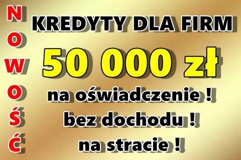 Kredyty Firmowe: 50 000 Zł Na Oświadczenie!! Bez Pitu/kpir/krd!